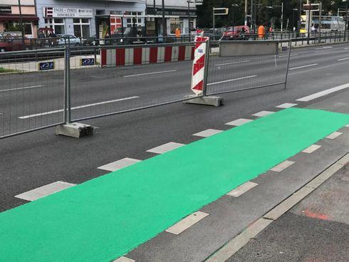 Grüner Radweg Baustelle Greifswalder Straße Pankow