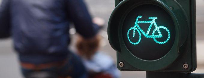 Grüne Ampel mit Fahrradsymbol