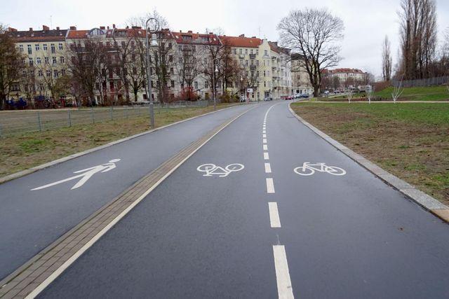 Beispielhafte Radschnellverbindung Torgauer Straße Berlin